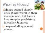 what is manga1