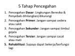5 tahap pencegahan