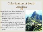 colonization of south america