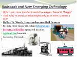 railroads and new emerging technology