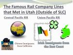 the famous rail company lines that met in utah outside of slc