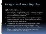 kategorisasi news magazine