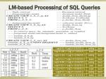lm based processing of sql queries