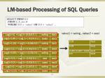 lm based processing of sql queries1