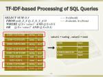 tf idf based processing of sql queries1