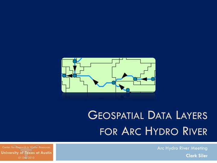 geospatial data layers for arc hydro river n.