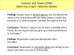 camerer and thaler 1996 rabin has it right manners matter
