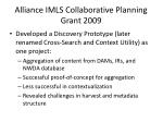 alliance imls collaborative planning grant 2009