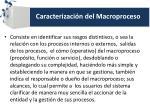 caracterizaci n del macroproceso