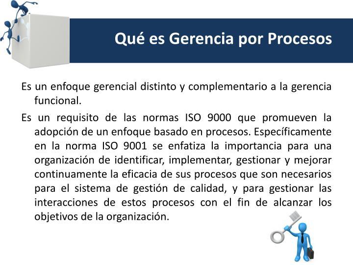 Qu es gerencia por procesos