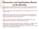 discussion and implications based on the results