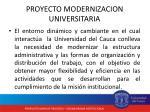 proyecto modernizacion universitaria