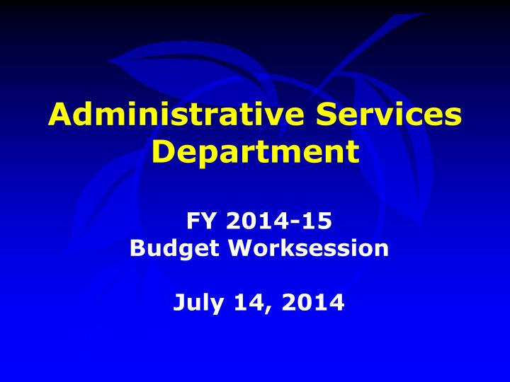 administrative services department n.