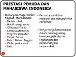 prestasi pemuda dan mahasiswa indonesia
