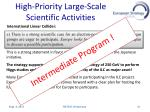 high priority l arge scale scientific a ctivities2
