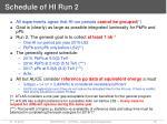 schedule of hi run 2