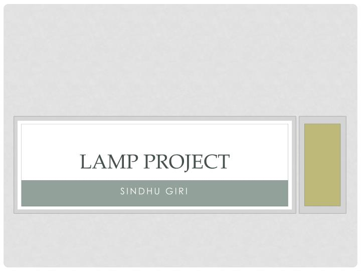 lamp project n.