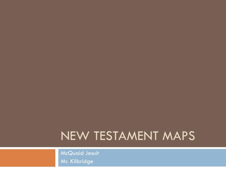 new testament maps n.