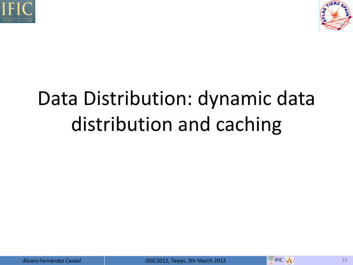 Data Distribution: dynamic data distribution and caching