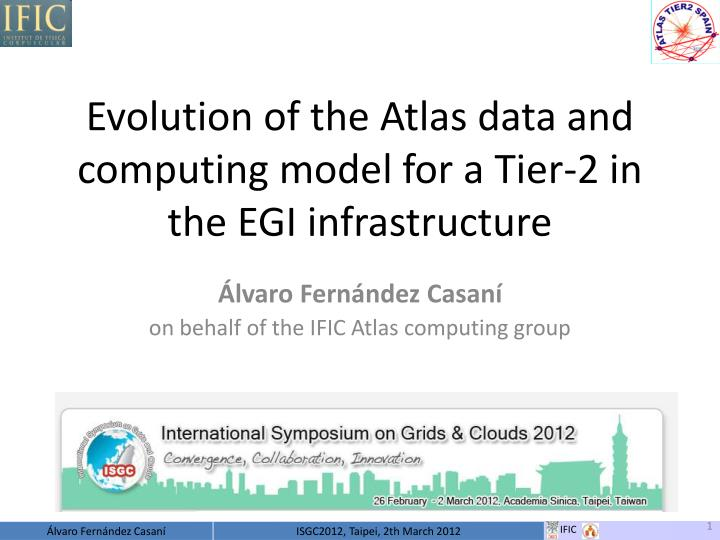 Evolution of the atlas data and computing model for a tier 2 in the egi infrastructure