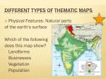 different types of thematic maps
