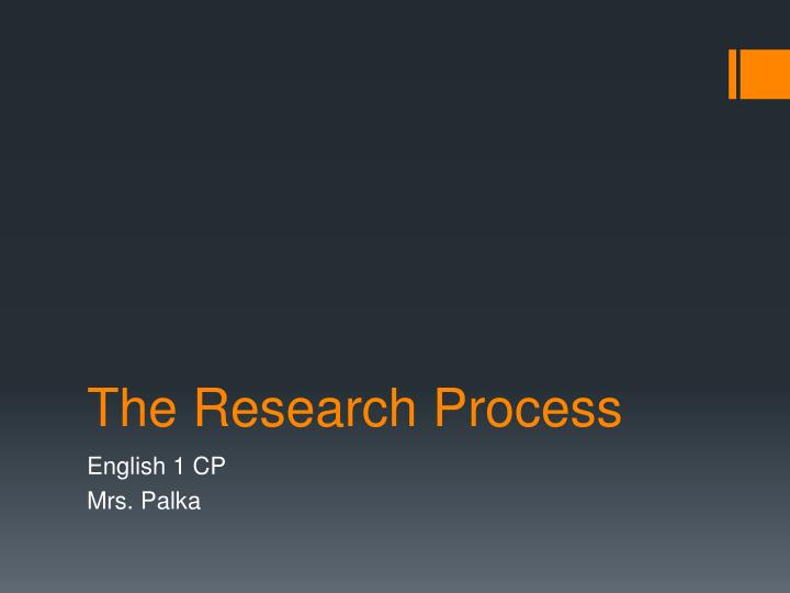 the research process n.