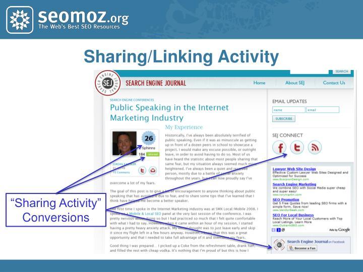 Sharing/Linking Activity