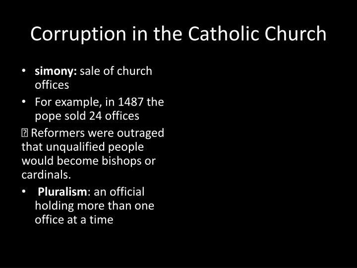 Corruption in the Catholic Church