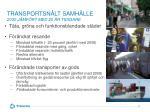 transportsn lt samh lle 2030 j mf rt med 20 r tidigare