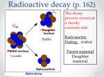 radioactive decay p 162