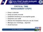 critical time management steps