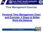 time management exercise