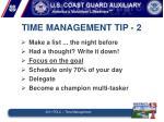 time management tip 2