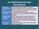 vii kemitraan kph dan masyarakat