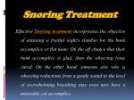 snoring treatment