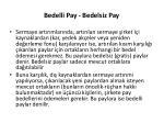 bedelli pay bedelsiz pay