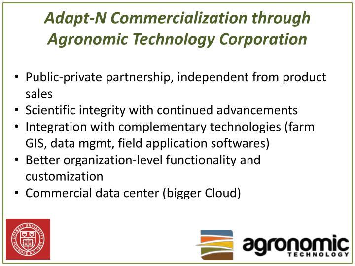 Adapt-N Commercialization through