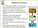 adapt n history