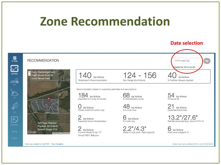 Zone Recommendation