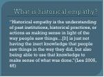what is historical empathy