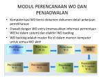 modul perencanaan wo dan penjadwalan