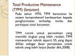 total productive maintenance tpm lanjutan