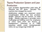 toyota production system and lean production