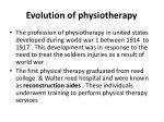 evolution of physiotherapy