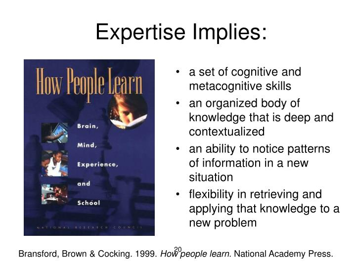 Expertise Implies: