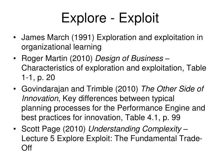Explore - Exploit