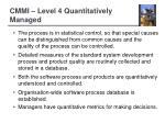 cmmi level 4 quantitatively managed