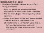 balkan conflict cont