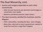 the dual monarchy cont