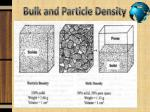 bulk and particle density